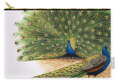 Peacocks Carry-all Pouch by RB Davis