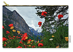 Peaks And Poppies Carry-all Pouch