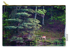 Carry-all Pouch featuring the painting Peaks Of Otter Deer by John Haldane