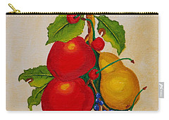 Carry-all Pouch featuring the painting Pear And Apples by Johanna Bruwer