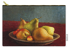 Pears And Cherries Carry-all Pouch