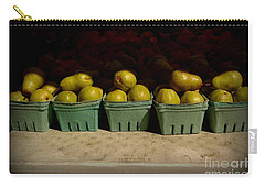 Sunny Green Pears At The Fair Carry-all Pouch by Miriam Danar