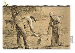 Peasants Planting Potatoes  Carry-all Pouch