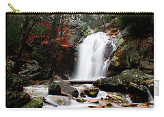 Peavine Falls In Autumn Carry-all Pouch by Shelby  Young