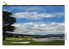 Pebble Beach - The 18th Hole Carry-all Pouch by Judy Vincent