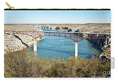 Carry-all Pouch featuring the photograph Pecos Bridge by Erika Weber