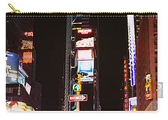 Pedestrians Waiting For Crossing Road Carry-all Pouch by Panoramic Images