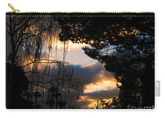 Carry-all Pouch featuring the photograph Peek A Boo Sunset by Janice Westerberg