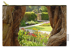 Carry-all Pouch featuring the photograph Peek At The Garden by Vicki Spindler