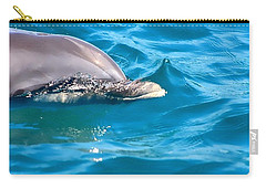 Peeking Dolphin Carry-all Pouch by Debra Forand