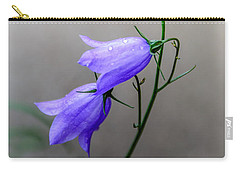 Blue Bells Peeking Through The Mist Carry-all Pouch