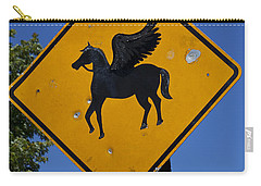 Pegasus Road Sign Carry-all Pouch