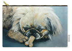 Pekinese And The Bone Carry-all Pouch