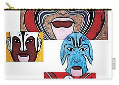 Carry-all Pouch featuring the painting Peking Opera No.1 by Fei A