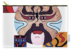 Carry-all Pouch featuring the painting Pekingopera No.2 by Fei A