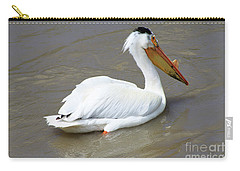 Carry-all Pouch featuring the photograph Pelecanus Eerythrorhynchos by Alyce Taylor