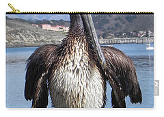 Carry-all Pouch featuring the photograph Pelican At Avila Beach Ca by Kathy Churchman