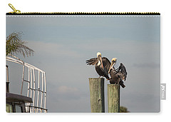 Carry-all Pouch featuring the photograph Pelican Buddies by John M Bailey