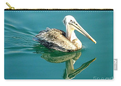 Carry-all Pouch featuring the photograph Pelican In San Francisco Bay by Clare Bevan