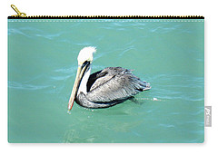 Carry-all Pouch featuring the photograph Pelican by Oksana Semenchenko