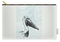 Pelican On Waves Carry-all Pouch