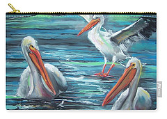 Carry-all Pouch featuring the pastel Pelican Profile by Peter Suhocke