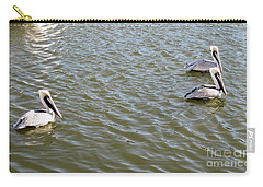 Carry-all Pouch featuring the photograph Pelicans In Florida by Oksana Semenchenko