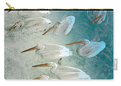 Pellican Frenzy Carry-all Pouch by Stuart Turnbull