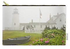 Pemaquid Point Lighthouse In Fog Maine Prints Carry-all Pouch by Keith Webber Jr