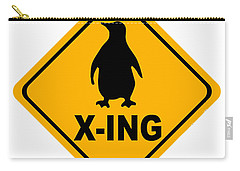 Penguin Crossing Sign Carry-all Pouch