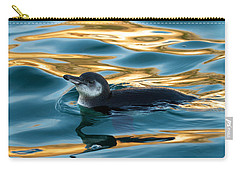 Penguin Watercolor 2 Carry-all Pouch by David Beebe