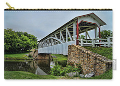 Carry-all Pouch featuring the photograph Pennsylvania Covered Bridge by Kathy Churchman
