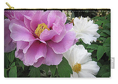 Peonies In White And Lavender Carry-all Pouch