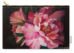 Peonies No 8 The Painting Carry-all Pouch by Marlene Book