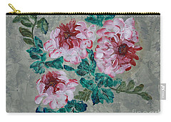 Peony Blossoms Floral Garden Art Walk Carry-all Pouch