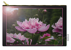Carry-all Pouch featuring the photograph Peony Garden Sun Flare by Patti Deters