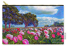 Peonies Carry-All Pouches