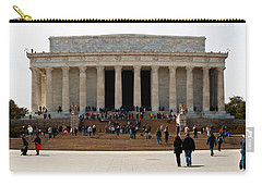 People At Lincoln Memorial, The Mall Carry-all Pouch by Panoramic Images
