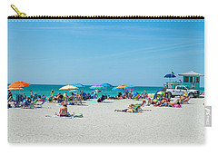 People On The Beach, Venice Beach, Gulf Carry-all Pouch