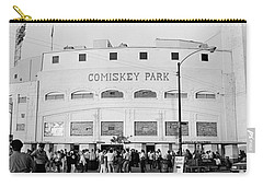 People Outside A Baseball Park, Old Carry-all Pouch