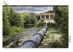 Carry-all Pouch featuring the photograph Pepperell Hydro Station - Penstock by Betty Denise