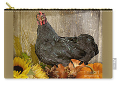 Carry-all Pouch featuring the photograph Pepper's Autumn Stroll by Donna Brown