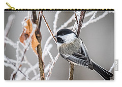 Perched Black Capped Chickadee Carry-all Pouch