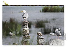 Perched On A Rock Cairn Carry-all Pouch