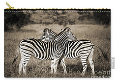 Perfect Zebras Carry-all Pouch by Delphimages Photo Creations