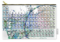 Periodic Table Colorful Liquid Splash Carry-all Pouch by Eti Reid