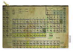 Carry-all Pouch featuring the mixed media Periodic Table Of Elements by Brian Reaves