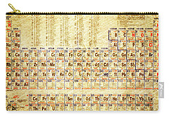 Periodic Table Of The Elements Vintage White Frame Carry-all Pouch by Eti Reid