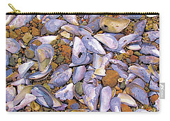 Periwinkles Muscles And Clams Carry-all Pouch by Elizabeth Dow