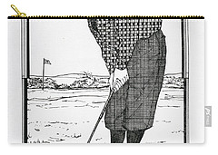 Carry-all Pouch featuring the drawing Persistance by Ira Shander
